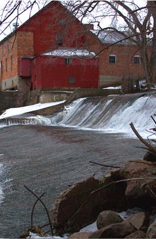 Photo of Lidtke Mill and dam.